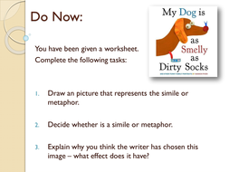 Year 7: Descriptive Writing SoW - Lesson 2