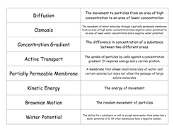 Keywords for Diffusion, Osmosis and Active Transport.docx
