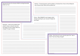 story writing planning template by nahoughton teaching. Black Bedroom Furniture Sets. Home Design Ideas