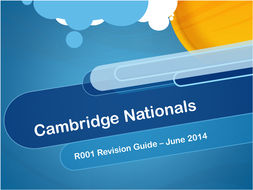 Cambridge Nationals R001 Revision Guide