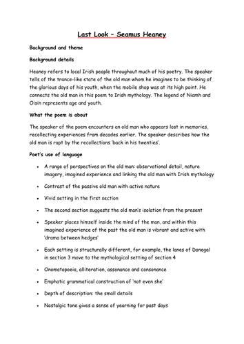 ministry of fear seamus heaney analysis essay Read seamus heaney two poems free essay and over 88,000 poems from different cultures -a comparison of two seamus heaney's poems at this poem analysis.