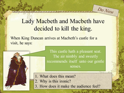 Year 9 Macbeth Scheme of Work - Lesson 9