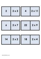 Multiplications dominoes