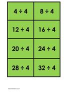 4 times table (dividing) - colour.docx