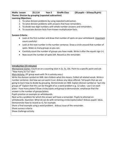 Place Value Kindergarten Worksheets Excel Division By Grouping By Blue  Teaching Resources  Tes Health And Safety In The Workplace Worksheets Word with Division Worksheet Grade 3  Adl Skills Worksheets