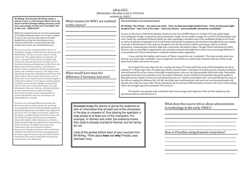 An Inspector Calls Context Lesson by jwaller4 - Teaching Resources ...