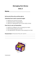 Managing Own Money Entry 3