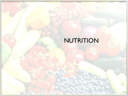 Nutrition- Macro nutrient lesson
