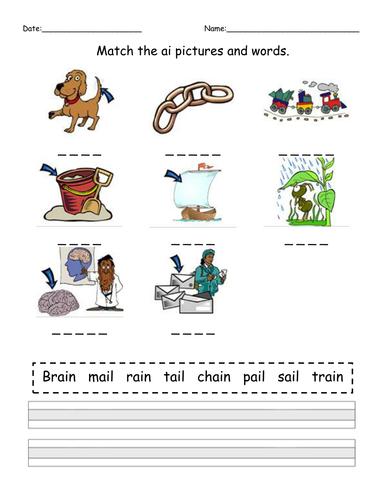 Phase 3 Phonics Worksheets Tes  – Phonics Homework Phase 4