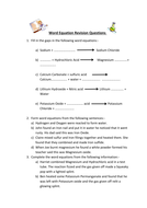 Practice word equations