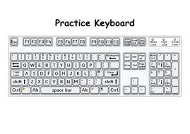 printable keyboard for typing practice by missmcardle teaching