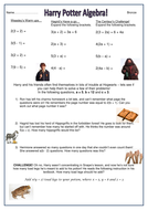 worksheet - harry potter algebra - bronze.docx