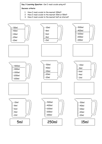 Measuring jugs with scales. by slinwood - Teaching Resources - Tes