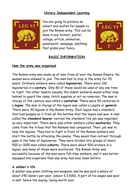 Roman Army independent learning project (hmwk)
