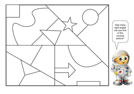 recognize right angles in shapes diff orientations by
