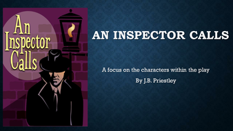 An Inspector Calls Character analysis and revision