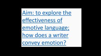Emotive language/devices