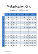 Multiplication Grid - Complete the 6x and 7x table.docx