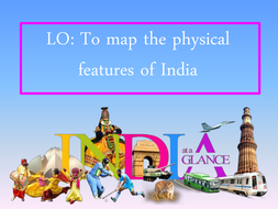 Physical Features Of India By Boomdeaye Teaching Resources Tes