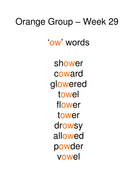 Week 29 - ow words.doc