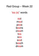 Week 22 - ea (e) words.doc