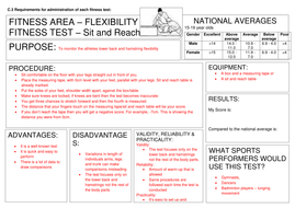 Learning aim C - Sit and Reach and Dynamometer fitness test template.docx