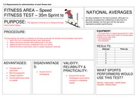 Fitness Testing Task cards