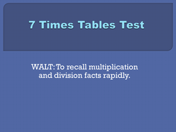 7x tables test set 2.pptx