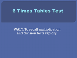 6x tables test set 2.pptx