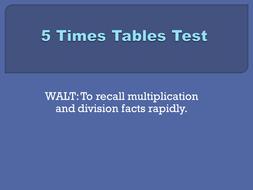 5x tables test set 2.pptx