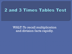 2x and 3x tables test set 1.pptx