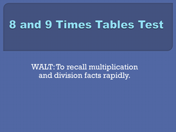Timed mixed tables tests, Set 1b