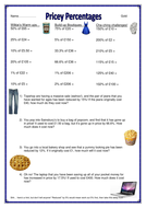 worksheet - percentages of numbers- gold.docx