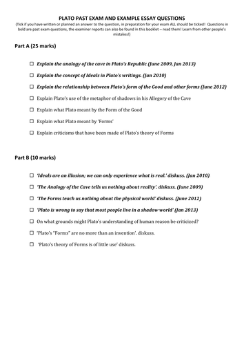 plato ocr past exam questions list by victoriaanne teaching plato ocr past exam questions list by victoriaanne teaching resources tes