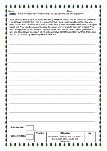 Christmas Letter to Santa by joelroutledge  Teaching Resources  Tes