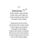 Song file with youtube video: El pelo y los ojos