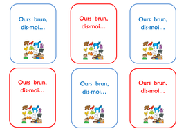 Ours Brun, dis-moi... French matching card game