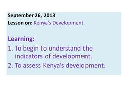 Kenya's Development