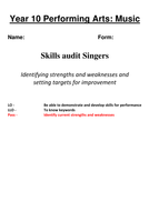 Baseline assessments NCFE Creative Studies: Perf