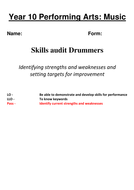 New final baseline assessment drummers.docx