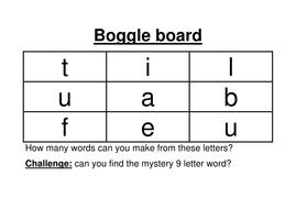 Boggle Boards