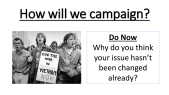How will we campaign?