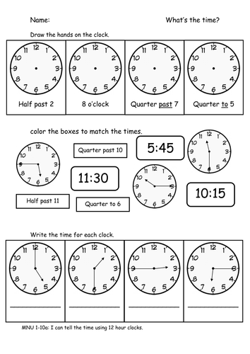 all worksheets clock matching worksheets printable worksheets guide for children and parents. Black Bedroom Furniture Sets. Home Design Ideas