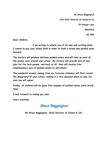 Persuasive Letter Format For Middle School. Persuasive writing and letter  by Jenkate Teaching Resources Tes