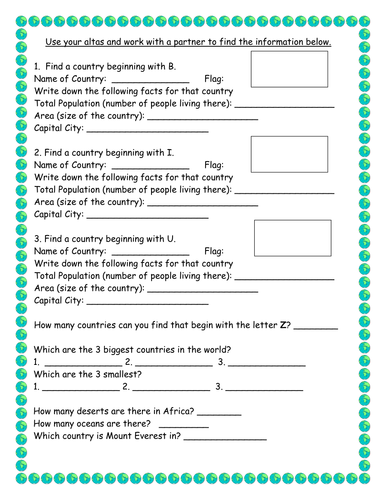 Atlas scavenger hunt by victoria1987 teaching resources tes gumiabroncs Gallery