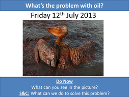 What's the problem with oil?