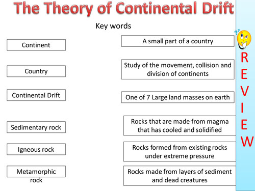 Continental drift lesson by grayahha Teaching Resources TES – Continental Drift Worksheet