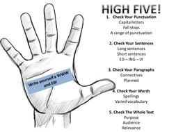 High Five: writing self-assessment