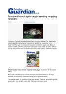 Croydon Council again caught sending recycling to landfill.docx
