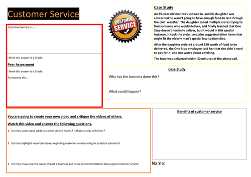 customer service case studies with questions